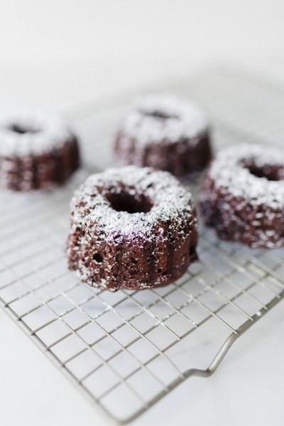 Mini Double Chocolate Chip Bundt Cakes