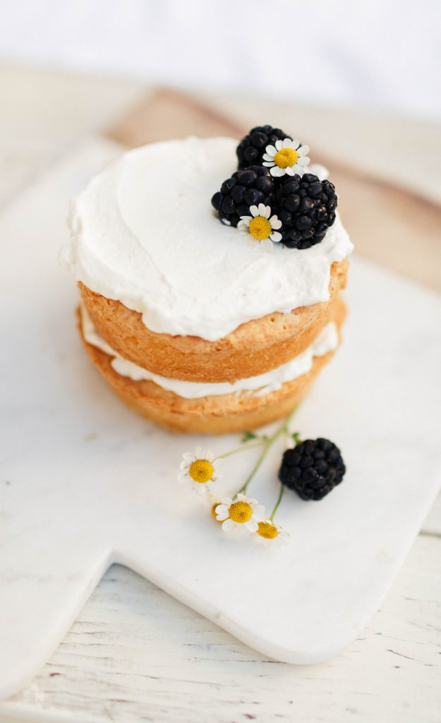 Mini Pound Cake with Whipped Cream