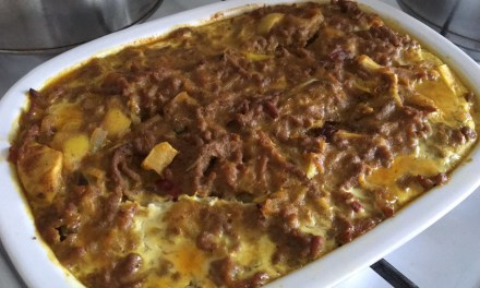 South African Bobotie with Appelkoos Blatjang