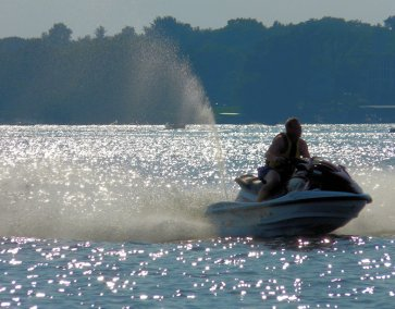 All types of watercraft at the lake