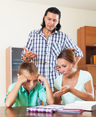 Parents upset at child small