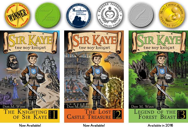 Sir Kaye books 1 to 3 plus awards