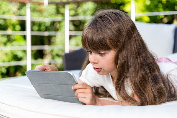 Child with Tablet small