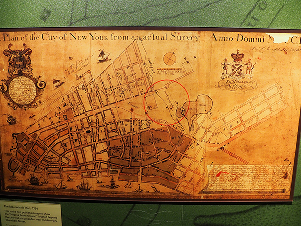 The Meerschalk Plan of 1754 - the first map to denote the burial ground