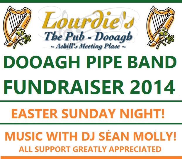Dooagh Pipe band fundraiser 2014