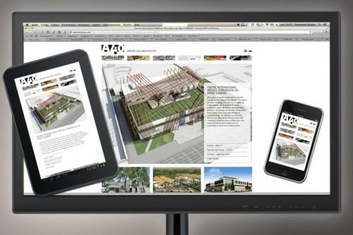Copie d'écran site a40architectes.com