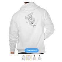 Hoodie http://www.zazzle.com/fighter_fish_white_hoodie_t_shirts-235533577868095994