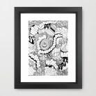 framed doodle art print