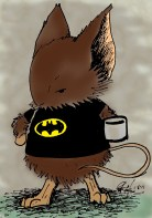 It's hard to make a mouse resemble me so I had to add the bat shirt and coffee