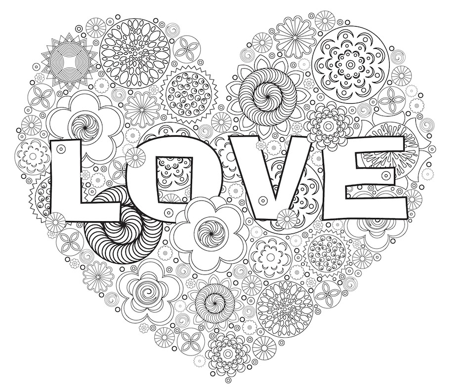 doodle heart coloring page doodle doodle is 4277