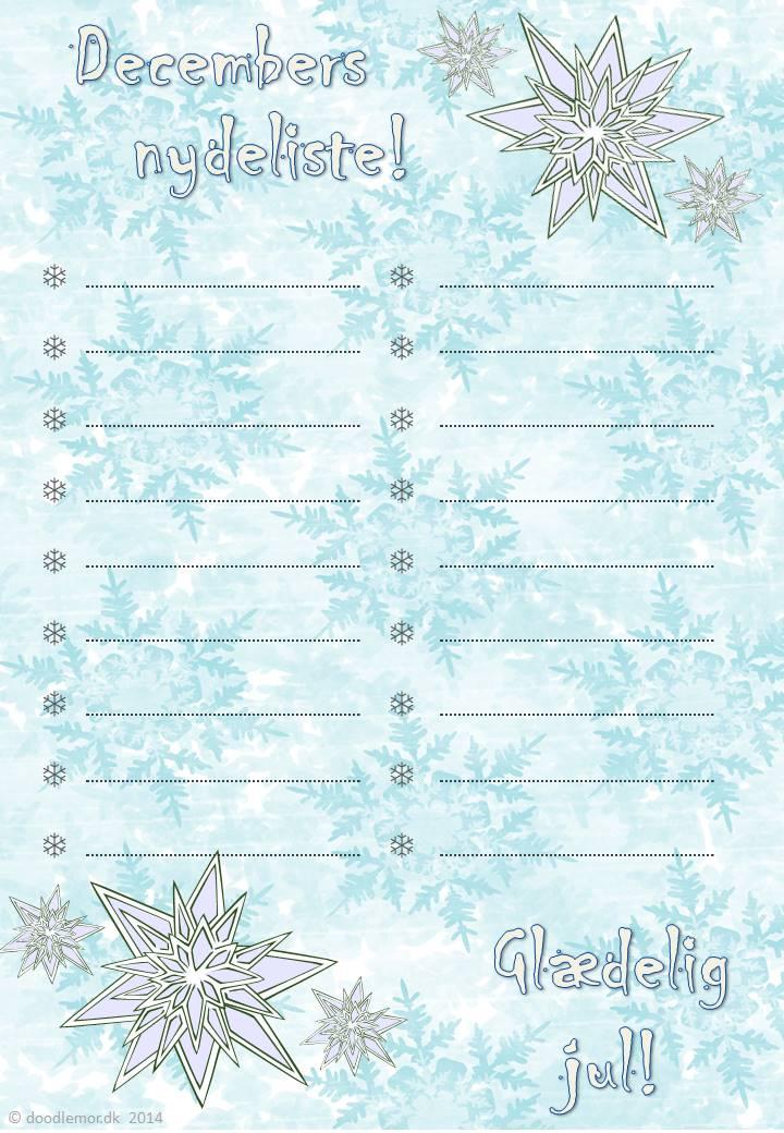 Decemberlisten - lav din egen