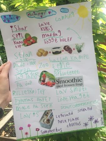 Plakat med sommerdrømme