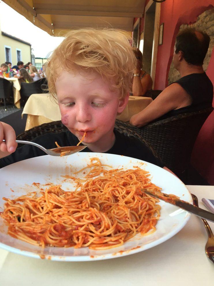 Lækker pasta i Italien