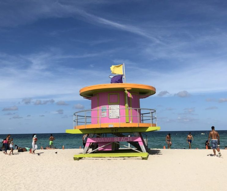 Livreddertårn på Miami Beach