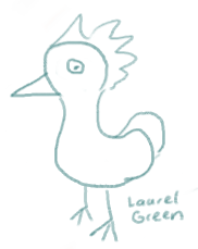 a doodle of a chicken with a big butt