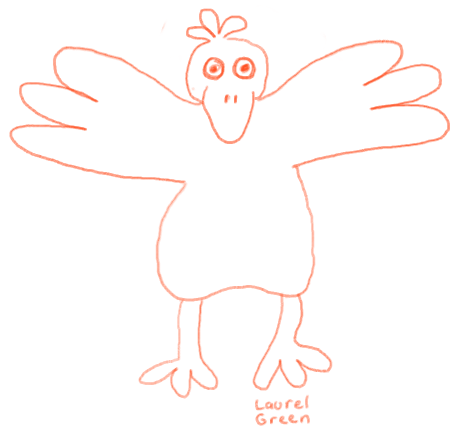 a drawing of a bird