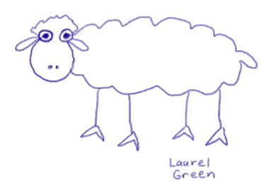 a drawing of a sheep