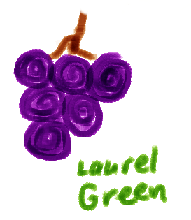 a bad drawing of some grapes