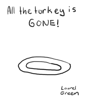 a drawing of an empty plate