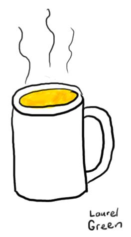 a drawing of a mug full of neocitran