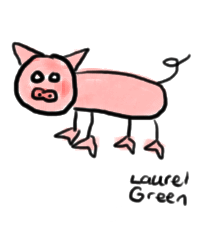 a bad drawing of a pig