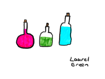 a drawing of three potions