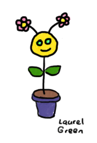 a drawing of a strange flower critter