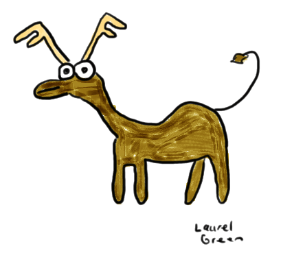 a badly drawn moose