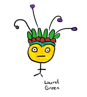 a drawing of a guy wearing a headdress