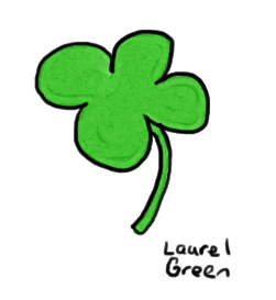 a drawing of a four-leaf clover