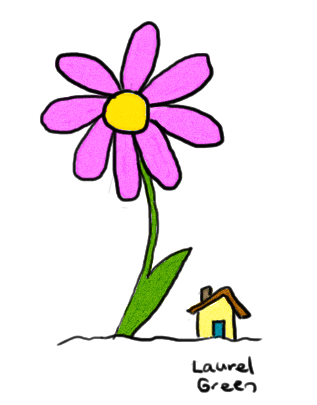 a drawing of a minuscule house