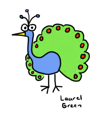 a drawing of a peacock