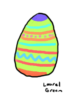 a drawing of a painted easter egg