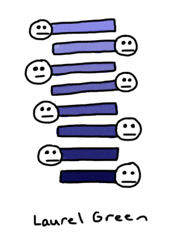 a drawing of some rectangles with faces attached to them