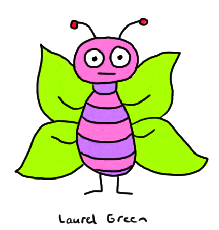 a drawing of a colourful moth