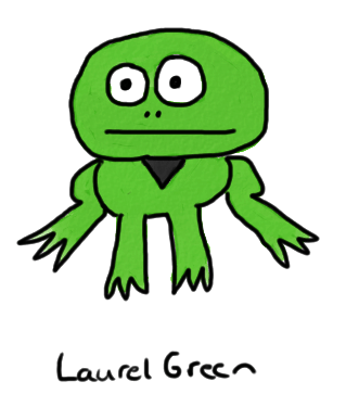 a drawing of a frog with a goatee