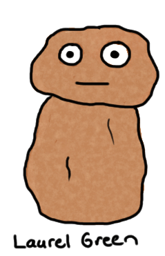 a drawing of a potato-shaped guy