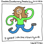 a drawing of laurel discombobulated