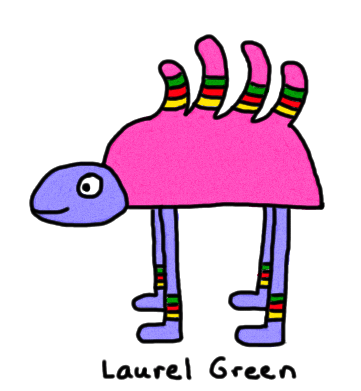 a drawing of a multi-coloured turtle with long legs