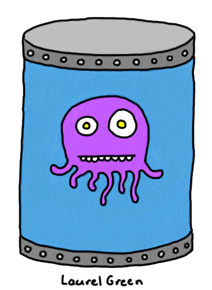 a drawing of a tentacled creature in a jar