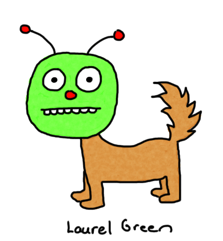 a drawing of a creature that is part dog and part bug