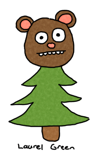 a drawing of a creature that is part bear and part tree
