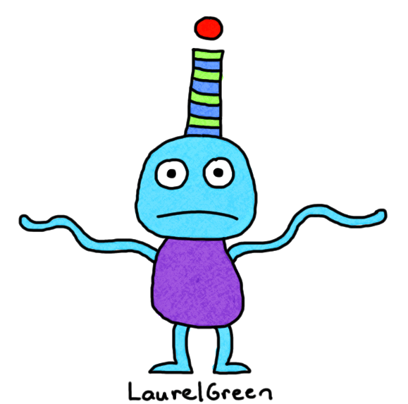 a drawing of a weird creature with wiggly arms