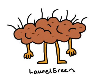 a drawing of an anthropomophized clump of dirt