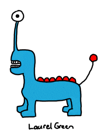 a drawing of a blur quadrupedal alien animal