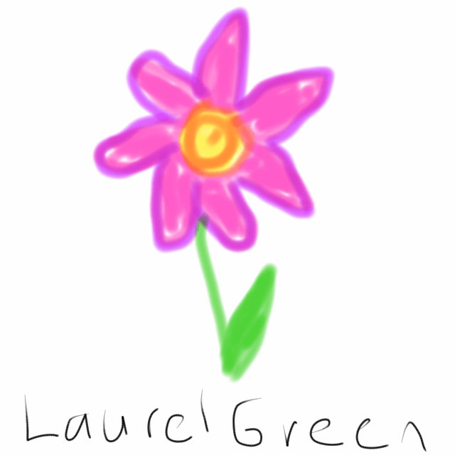 a drawing of a crappy cellphone flower