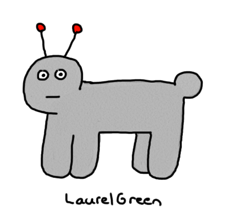 a drawing of a grey, quadrupedal alien
