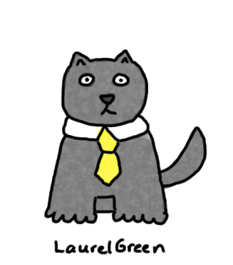 a drawing of a cat wearing a tie