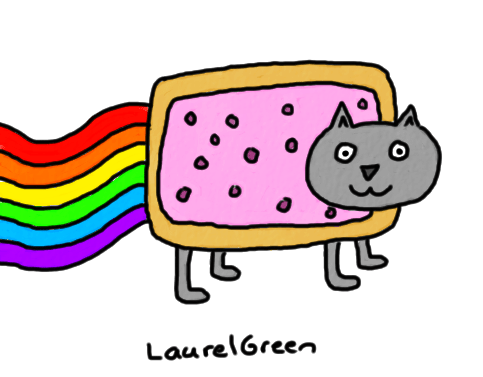 a drawing of nyan cat