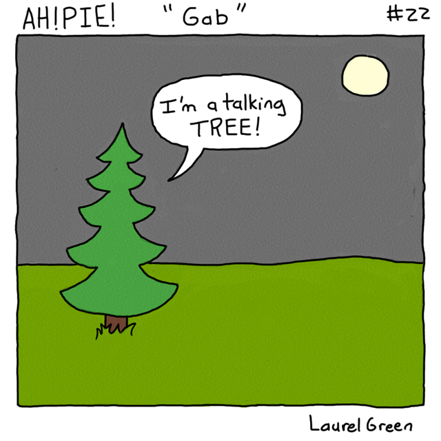 a comic about a talking tree